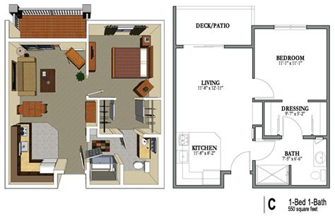 550 square feet floor plan senior housing moderni