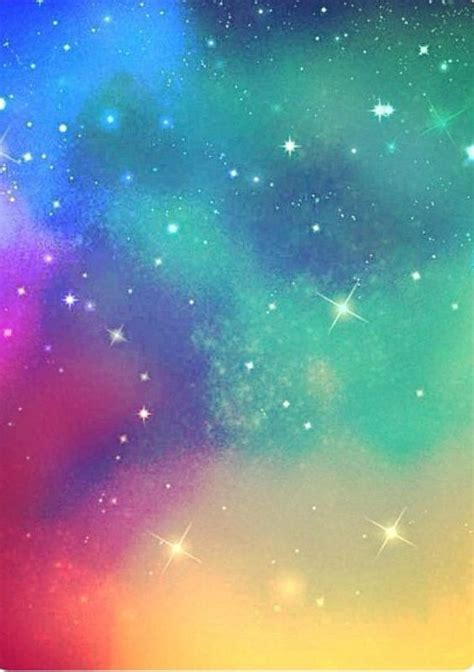 Galaxy Rainbow a sparkly kinda rainbow galaxy background for