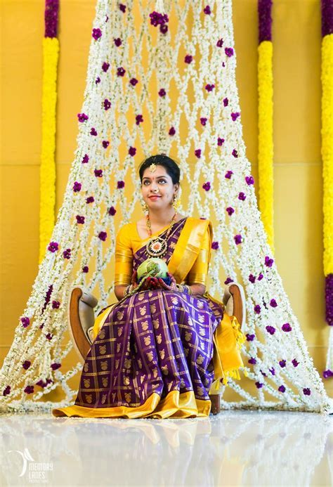 purple and yellow kanjeevaram saree   Sarees   Saree