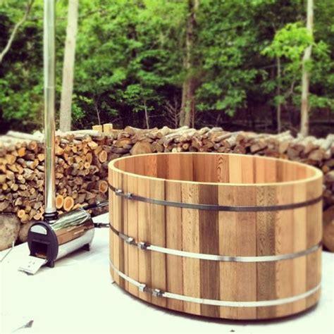 wood burning bathtub wood burning cedar hot tub i like refuge pinterest