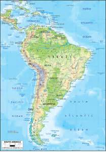 physical features map of south america physical map of south america ezilon maps