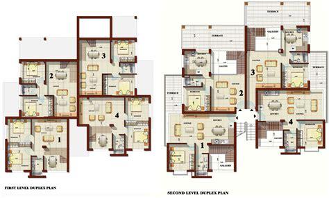 Plans For Duplex Apartments by Duplex Apartment Plans Modern House Plan Modern House Plan