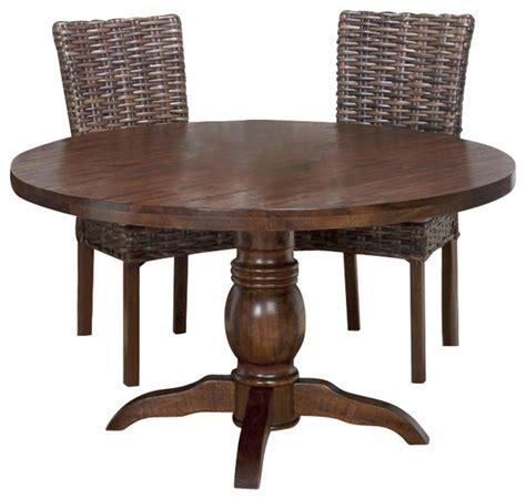 Jofran 733 52 Urban Lodge Round Pedestal Dining Table In 52 Dining Table