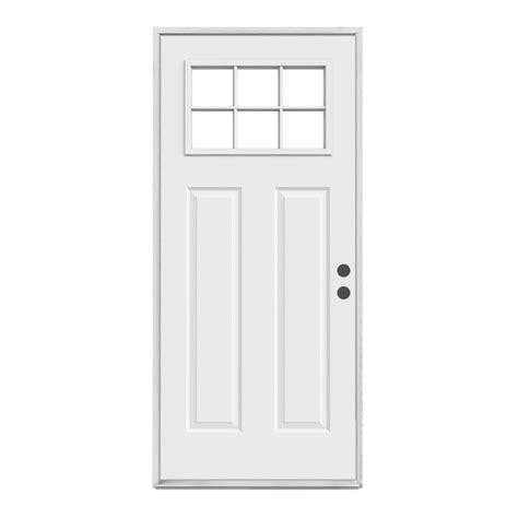 Doors Lowes Exterior Reliabilt Craftsman 6 Lite Inswing Steel Entry Door Lowe S Canada