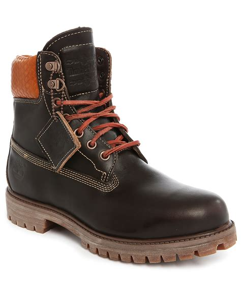 timberland boots for timberland 6 inch premium brown leather boots in brown for