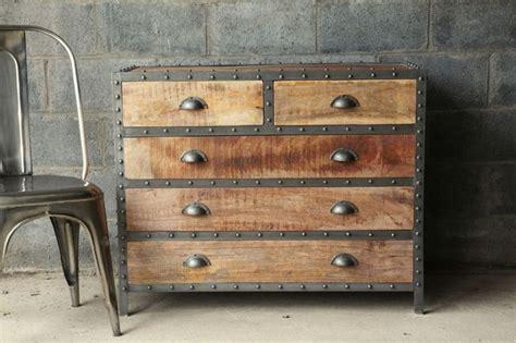 industrial looking hardware restoration hardware style industrial chic wood dresser