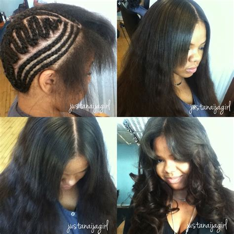 weave braid pattern for sensitive edges crochet braids with straight hair google search