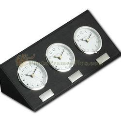 Multi Time Zone Desk Clock by Multi Time Zone Clock In Leather Findgift