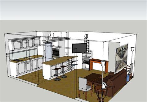 cuisine ouverte sur salon 30m2 kirafes