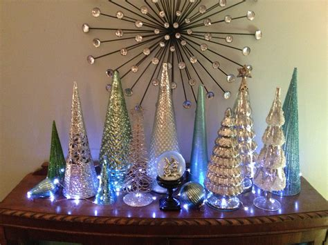 homesense christmas tree all homesense marshall s and bouclair finds mercury glass trees glitter trees snow globe