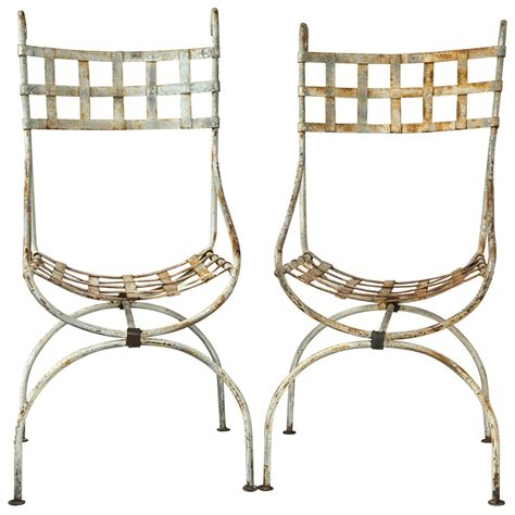basket weave garden chairs pair of basket weave wrought iron quot beverly hotel