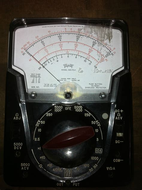 Multimeter Analog Winner vintage triplett 630 plk analog vom and 50 similar items