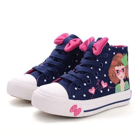 canvas kisd 2016 spring baby girls cartoon canvas shoes classic zip
