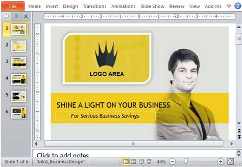 Business Sales Powerpoint Template With Video Animation Professional Ppt Sles