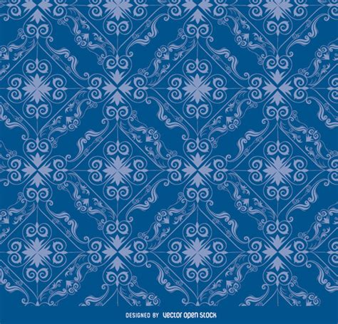ornamental pattern ai ornamental pattern in blue color vector free download