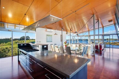 waterfront home kitchen design an amazingly beautiful modern waterfront house from new