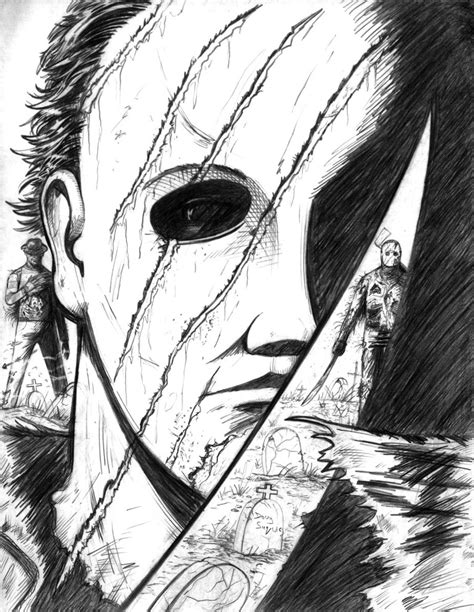 Freddy Vs Jason Vs Michael Myers 2nd Version By Dougsq On Michael Myers Coloring Pages