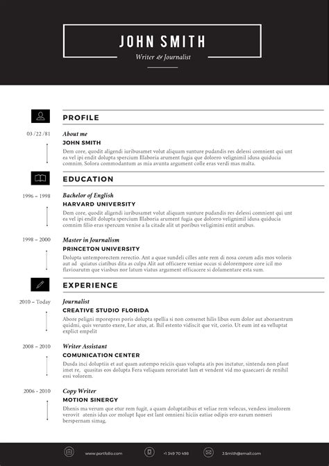 Creative Resume Template By Cvfolio Resumes Ms Word Resume Template