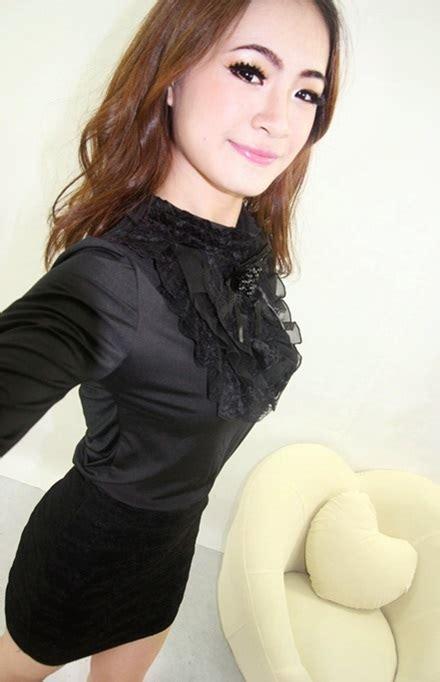Baju Hitam Lengan Panjang Kosong baju atasan korea hitam lengan panjang toko baju wanita murah goldendragonshop