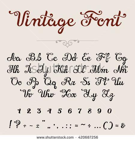 design heading font elegant calligraphic script font vector title stock vector