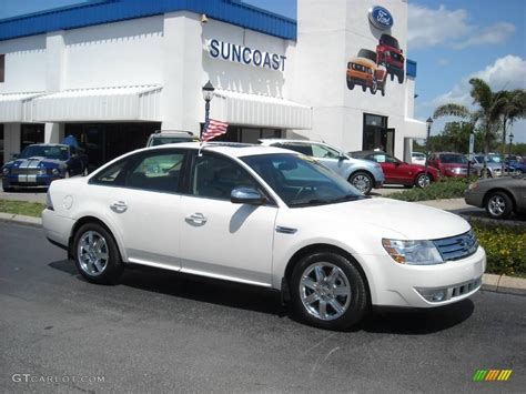 ford taurus 2009 2009 white sand tri coat metallic ford taurus limited