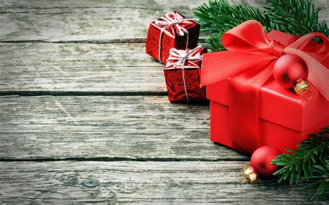 new year christmas winter holiday gifts wallpaper