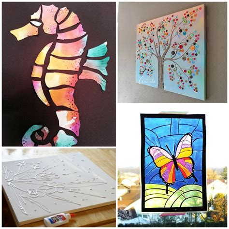 art projects 21 kids art projects that are wall worthy