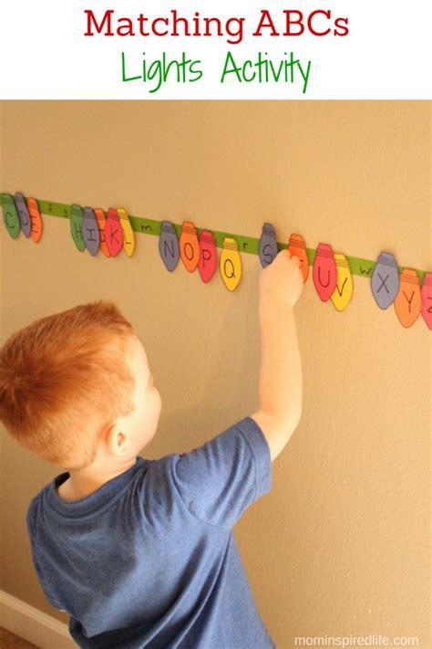 for preschoolers matching abcs lights activity for preschoolers