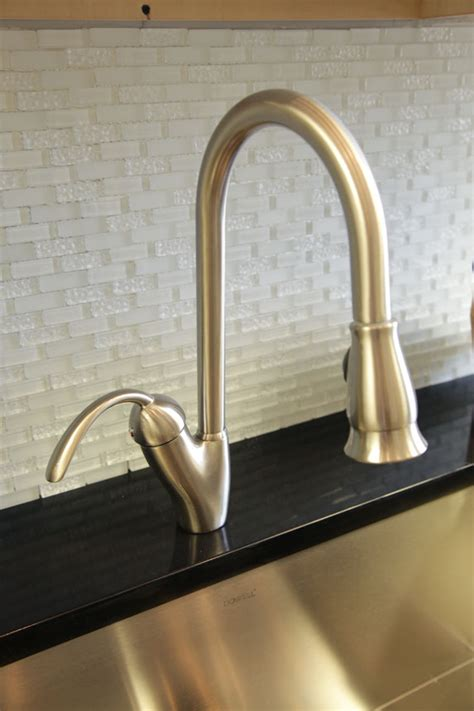 kitchen faucet made in usa dowell usa 8002 011 single handle pull kitchen faucet