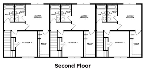 Multi Unit Home Plans by 3 Unit Multi Family House Plans Home Deco Plans