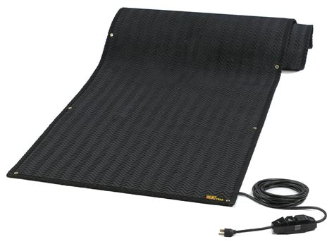 Heated Doormat heattrak htm24 10 industrial snow melting walkway mat 24 inch by 10 foot 120 volt