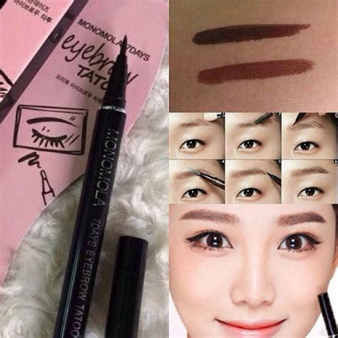 Monomola Eyebrow Tatoo 7 Days magic waterproof brown 7 days eye brow eyebrow pen liner lasting makeup cosmetics