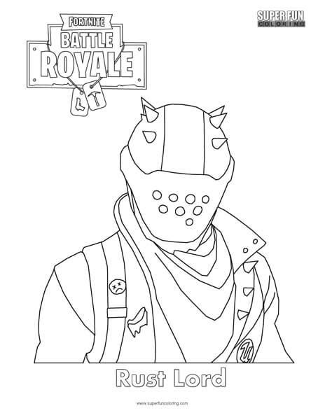 fortnite colouring pages rust lord fortnite coloring page coloring