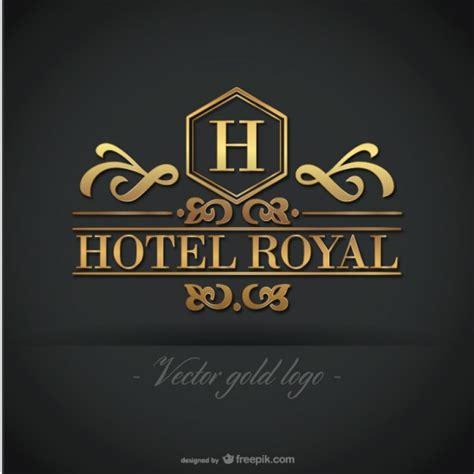free hotel logo design golden hotel royal logo vector free download