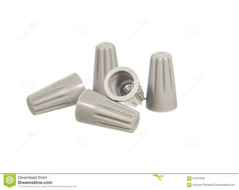 white wire nuts wire nut stock photo image 61247809