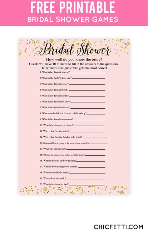 The 25  best Printable bridal shower games ideas on