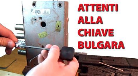 come aprire una porta senza chiave contro la chiave bulgara