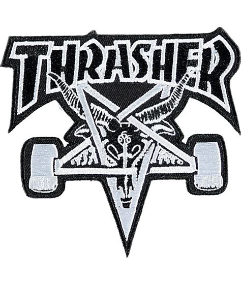 thrasher skate goat logo thrasher skate goat patch zumiez