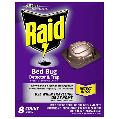 bed bug detector amazon com raid bed bug detector and trap 8 0 count