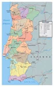 detailed map of cities and towns detailed political and administrative map of portugal with