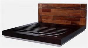 Recycled wood platform bed woodland creek furniture