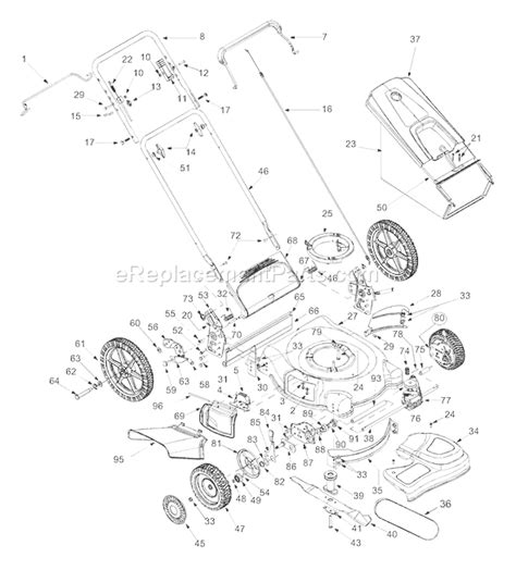 mtd lawn mower parts diagram mtd 12a 568q118 parts list and diagram 2003