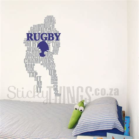 Rugby Wall Stickers rugby player wall art sticker stickythings wall stickers