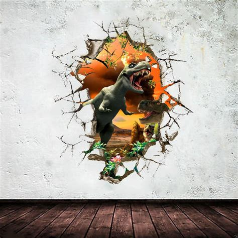 3d Untuk Stiker by Dinosaurus 3d Stiker Dinding Untuk Kamar Anak Anak Seni