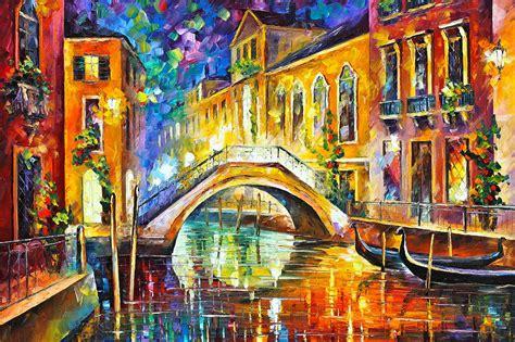 Pillow Duvet Venice Painting By Leonid Afremov