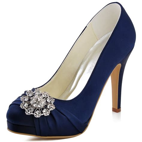 Satin Pumps Wedding by Elegantpark Ep2015 Pf S Prom Pumps Rhinstones Satin