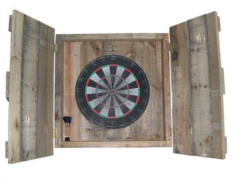 reclaimed wood dartboard cabinet 9 best darts out charts images on charts