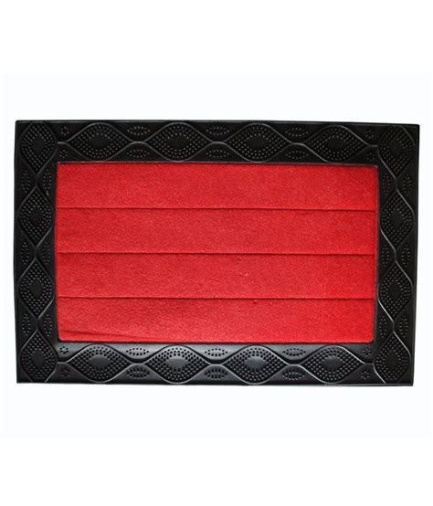 majesty home decor red geometrical floor mat buy majesty majesty home decor wave red door mat buy majesty home
