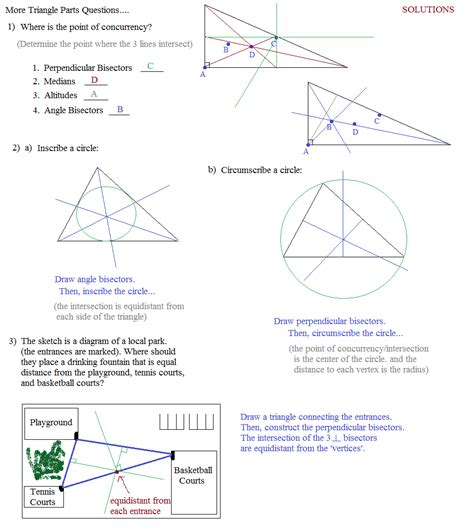 Geometry Points Of Concurrency Worksheet by Geometry Points Of Concurrency Worksheet Deployday
