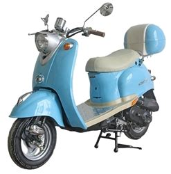 100 Doors 49 Floor by Retro 50 49cc Moped Scooter W Chrome Mirrors